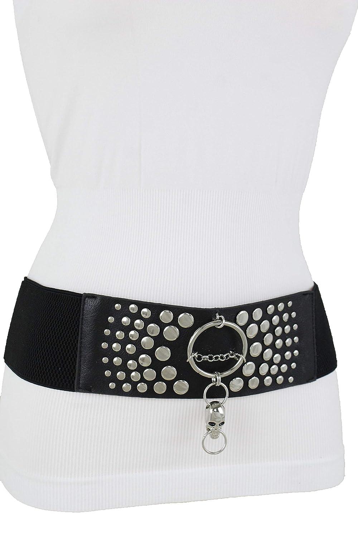 Belt Wide Round Buckle Women Leather Waist Fashion Hip Lady Waistband Air Metal
