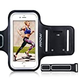 "Mpow iPhone 6 / 6s / 7 / 8 Plus Running Sport Armband for Samsung Galaxy S8, S8 Plus, S7 edge, S6 edge (Up to 5.5""), Adjustable Size, Sweatproof Phone Holder for Running Safey Design Suitable for Exercise, Gym, Jogging, Biking With Key Holder"