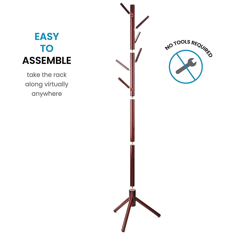 Amazon.com: ZOBER Perchero de pie de madera de alta calidad ...