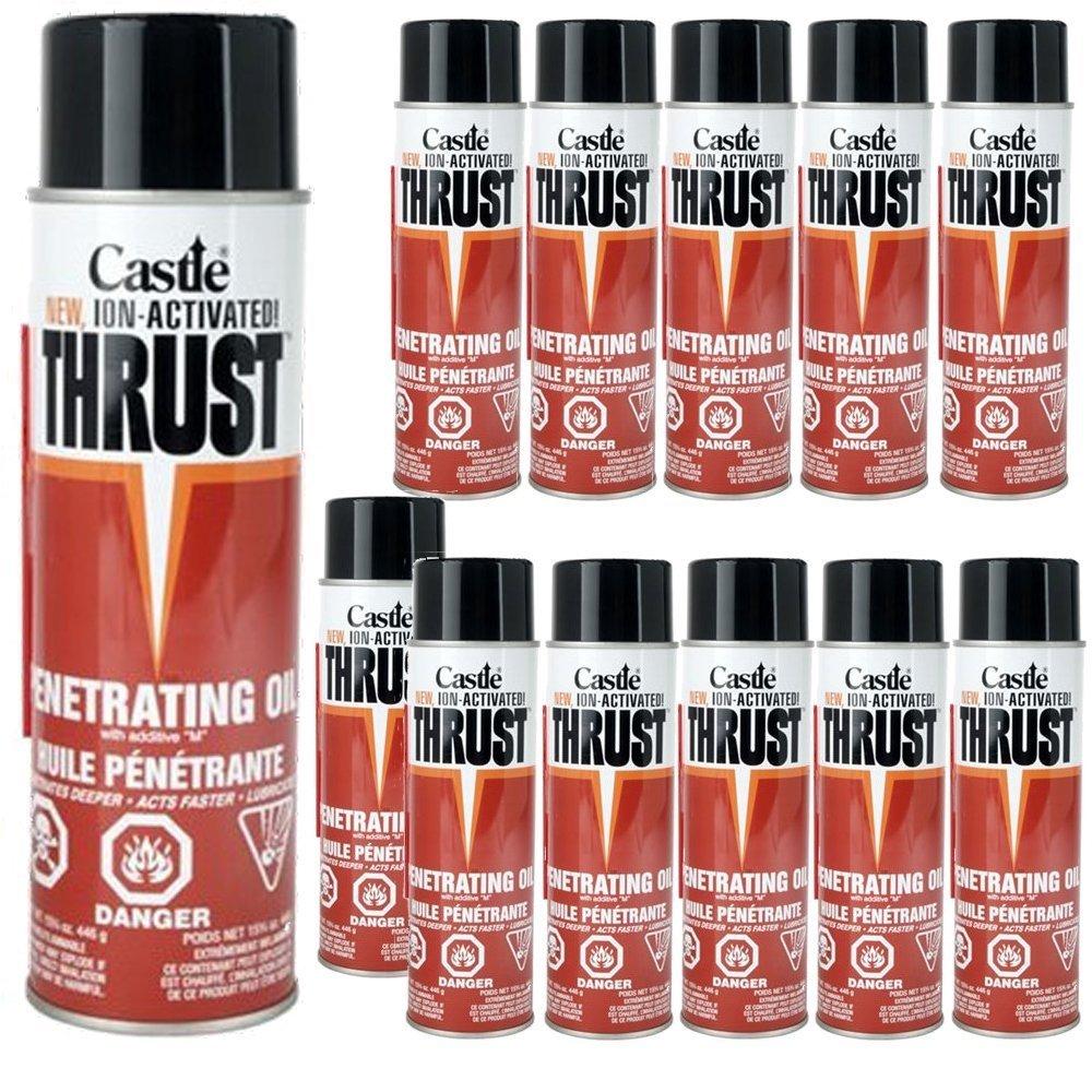 Castle Thrust Penetrating Oil - 15.75oz Aerosol - (Case of 12) by Castle Thrust