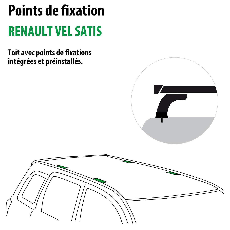 Complete Kit rameder, Roof Bars WingBar for Renault Vel Satis  (114446-04862-1-fr): Amazon.co.uk: Car & Motorbike