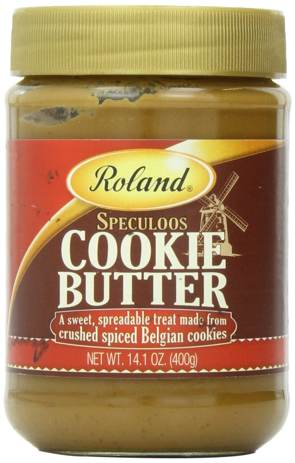 Roland Speculoos Cookie Butter, 14.1 Oz (Pack of 12)