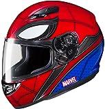 HJC Marvel Unisex-Adult Full Face CS-R3 Spiderman Homecoming Helmet (Mic-1 Red/Blue, Large)