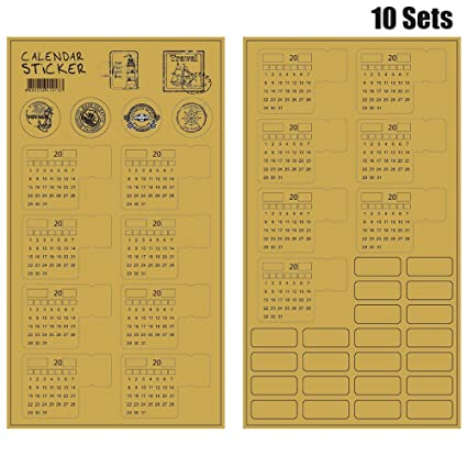 amazon com 2018 calendars stickers for bullet journal planners