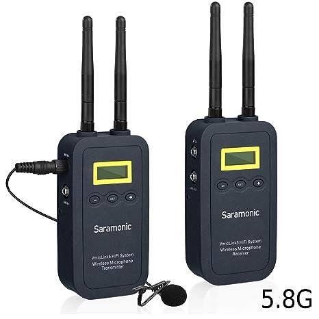 Saramonic VMicLink5 HiFi 5.8GHz Sistema de micrófono inalámbrico ...