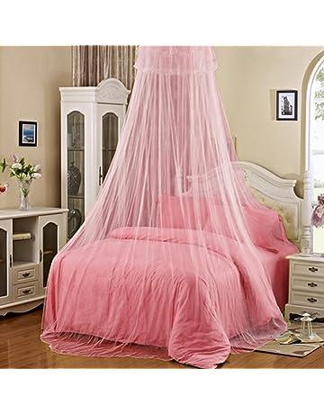 Mosquitera para cama, elegante red antiinsectos con encaje y en forma de cúpula redonda,