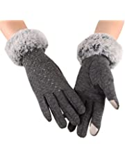 Winter Touch Screen Gloves for Women Thick Warm Wool Windproof Gloves Cold Proof Thermal Mittens Hand Wear Warmers