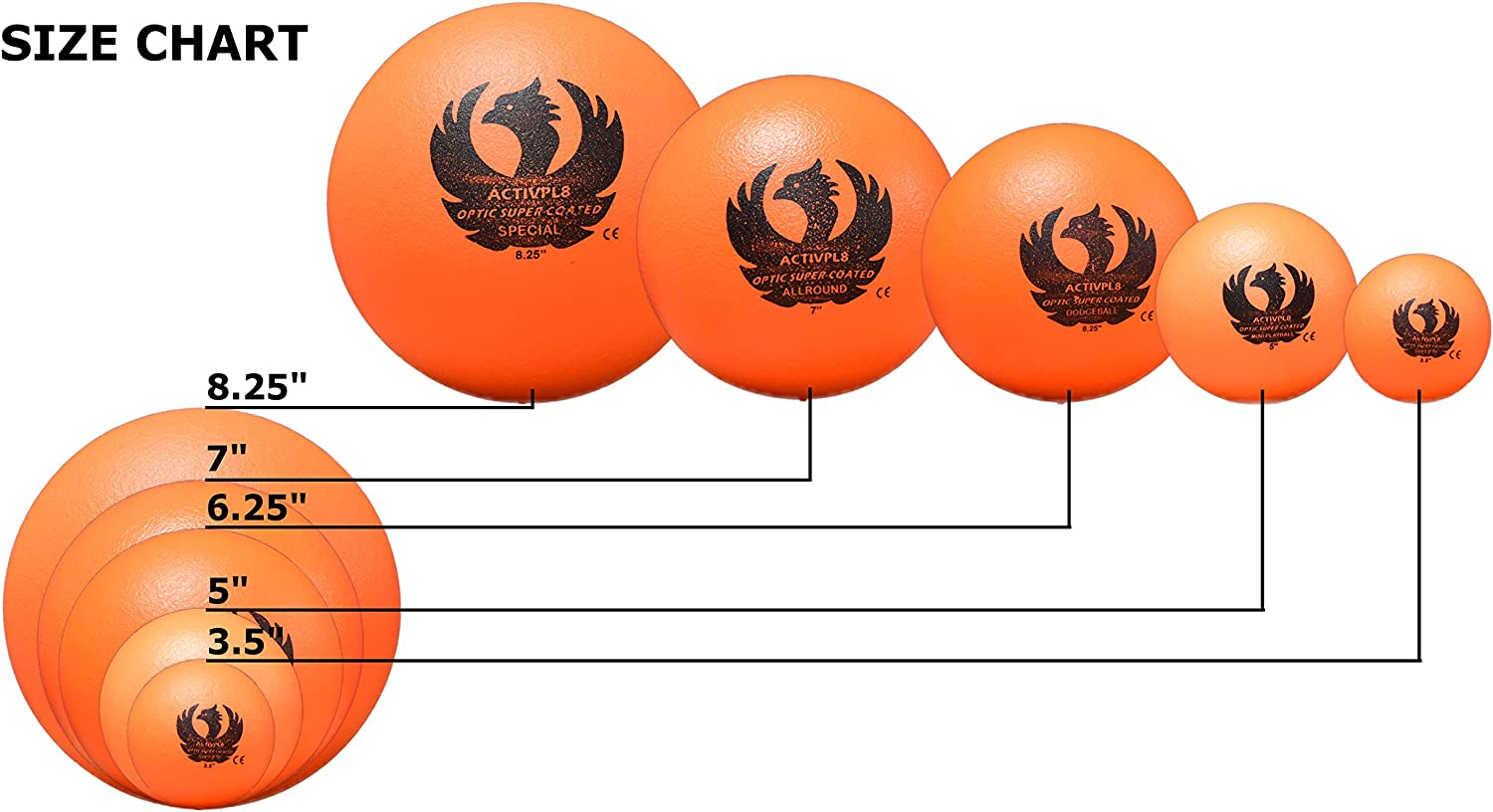 No-Sting Balls for Playground Games Coated Foam Balls 6.25 Inch Set of 6 ARISE Optic Super Coated Dodgeball Dodgeball Set Soft Touch Foam Balls