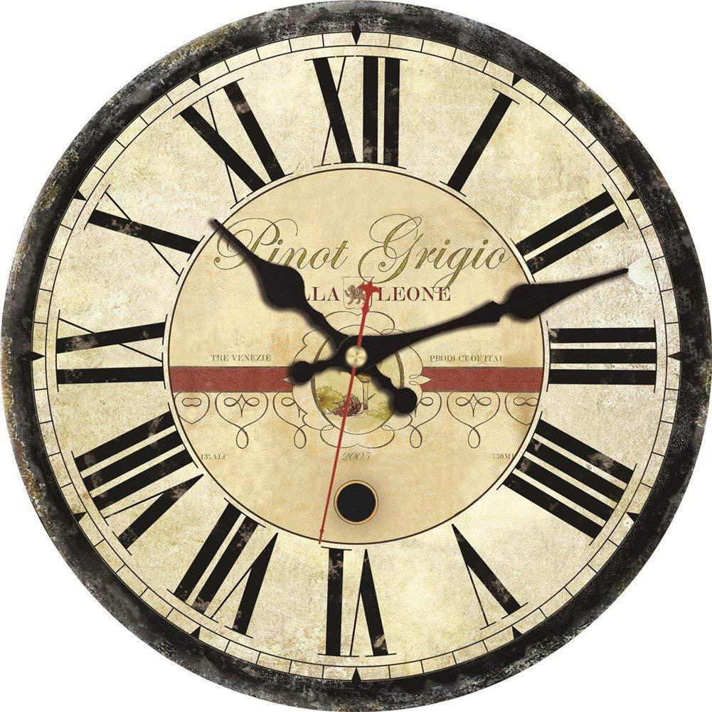 MEISTAR Vintage Creative Quartz Movement Clock Home Décor Morden 12 Inch Silent Sweep Wall Clock Kitchen Bar Great Gift Idea by MEISTAR