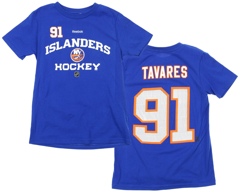 NHL Big Boys Youth New York Islanders John Tavares #91 Player Tee, Blue Reebok