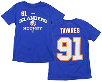 sports shoes ed706 b08d8 NHL Big Boys Youth New York Islanders John Tavares  91 Player Tee, Blue,  Skateboarding - Amazon Canada