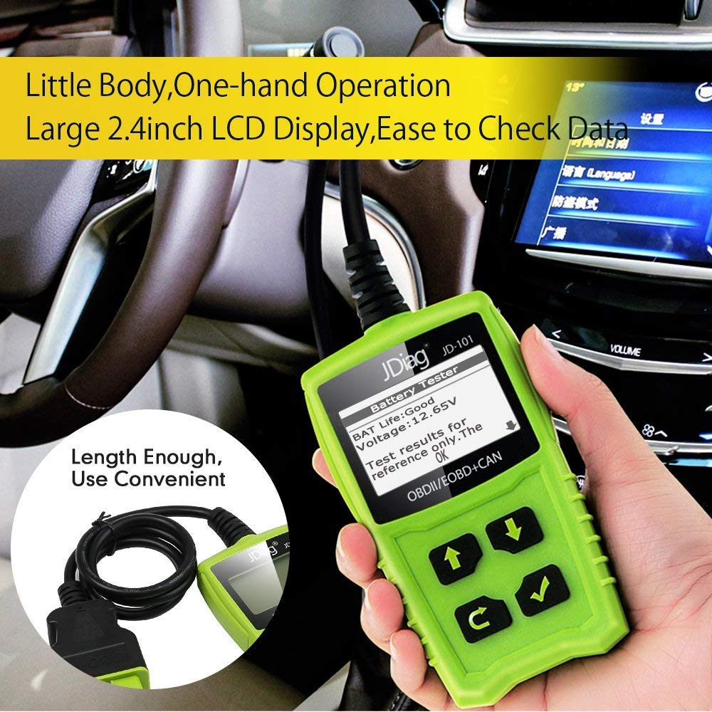JDiag OBD2 Scanner Auto Check Car Engine Fault Code Reader Enhanced Universal OBD II Classic Diagnostic Scan Tool Suitable for EOBD/CAN Vehicles by JDIAG (Image #4)