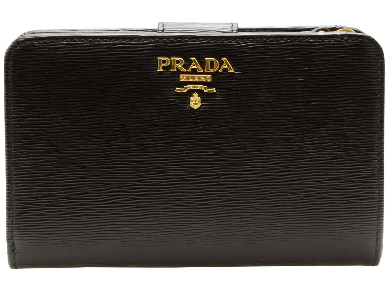 (プラダ) PRADA 財布 二つ折り ブラック 型押しレザー 1ml225vitmov-nero ブランド [並行輸入品] B01HCLGRVK