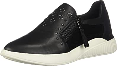 GEOX D Theragon D Womens Nappa Leather Zip up Sneakers