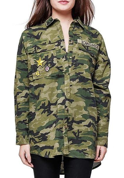 AZAKA Paris Camisas - Camisa - Para Mujer Verde M/L