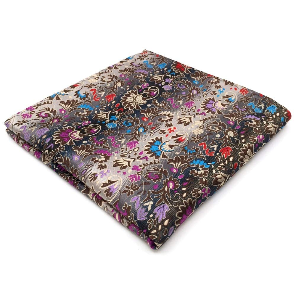 Shlax&Wing Floral Multicolor Pocket Square Mens Hankies Hanky PH12