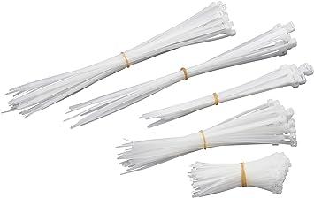 Meister Kabelbinder Sortiment 250 Teilig Weiß Verschiedene Größen 100 200 300 Mm Stabiles Nylon Formbeständig Kabelbinder Set Für Bündelgut Kabelverbinder 1746650 Baumarkt