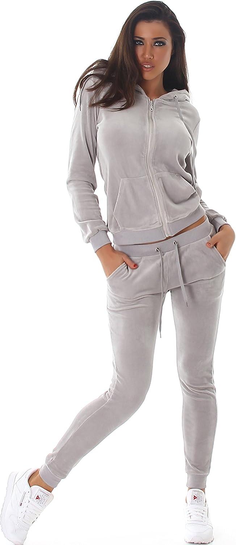 JELA London Combinaison de Jogging pour Femme en Velours Velours pour Loisirs