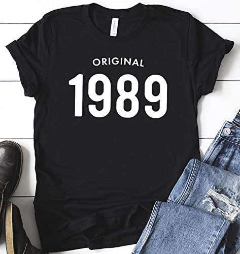 30th Birthday Shirt Original 1989 T Gifts For Men Him Unisex 30 Party Dad Graphic Tees Short Sleeve Jersey Personalized Gift