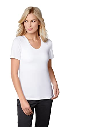 69eddf01479ed8 Amoena Women s Valletta Built-in Shelf Bra T-Shirt White 8