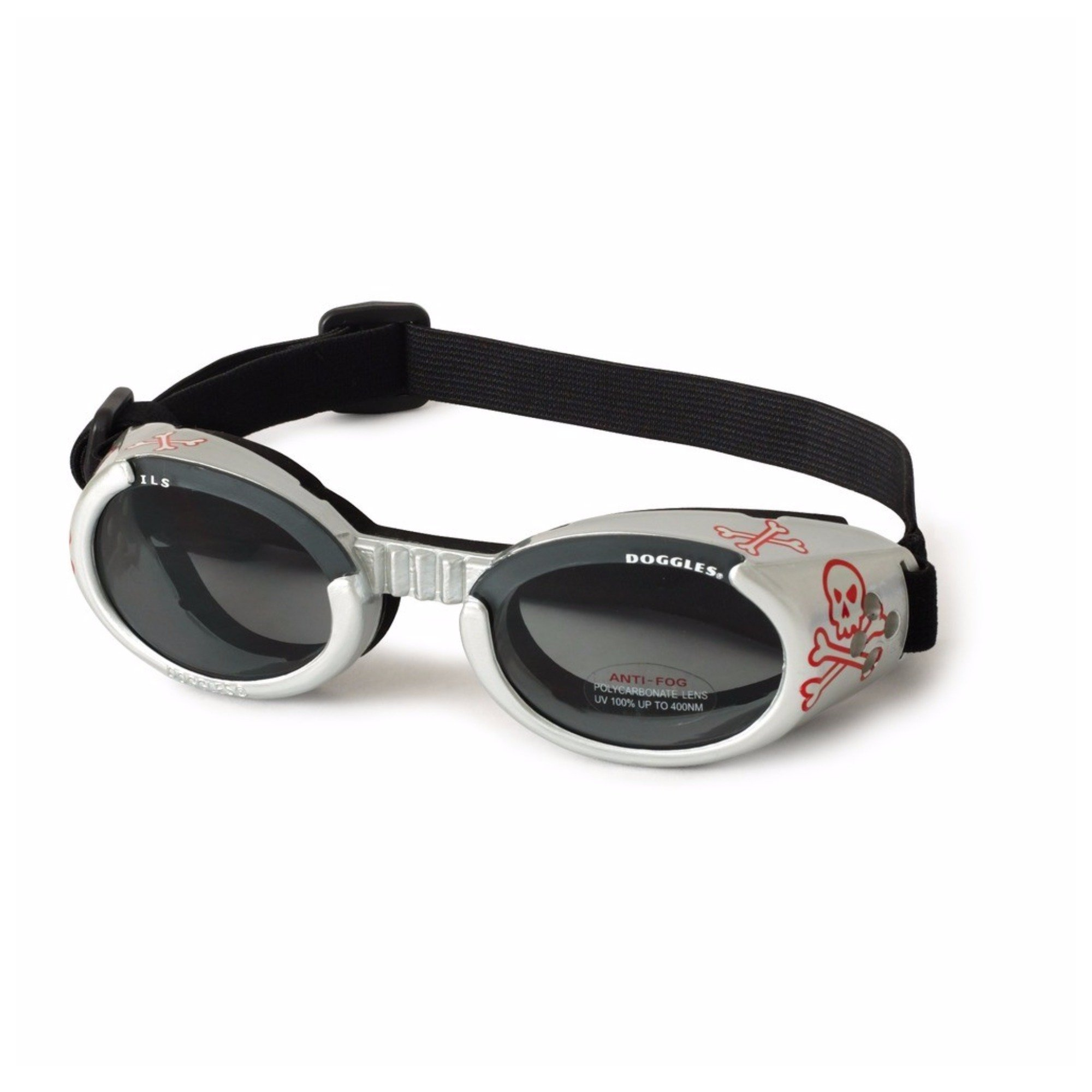 Doggles DODGILLG-13 Doggles - ILS Large Shiny Red Frame with Smoke Lens