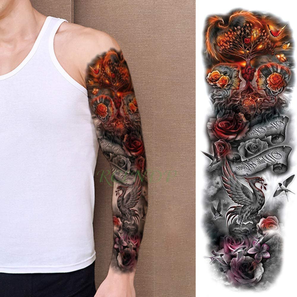 3pcs Impermeable Etiqueta engomada del Tatuaje Belleza Muchacha de ...