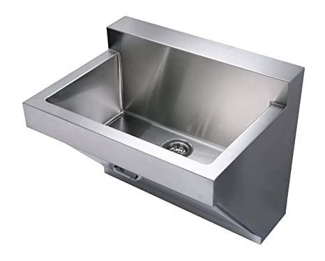 Wall Hung Utility Sink.Whitehaus Whnc3022w Bss Noah S Collection 30 Inch Commercial