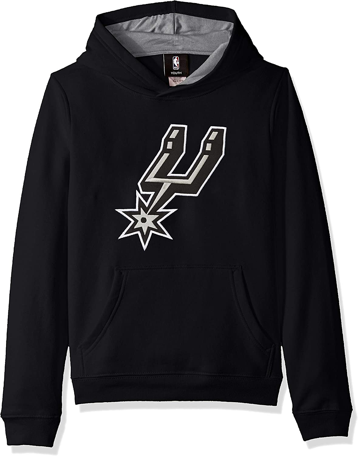 18 Youth X-Large NBA by Outerstuff Boys Prime Pullover Fleece Hoodie San Antonio Spurs Black