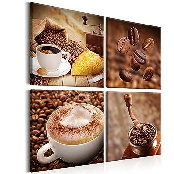 Leinwandbilder Kaffee Coffee: 60x60 cm XXL - 4 Teilig – Wandbilder ...