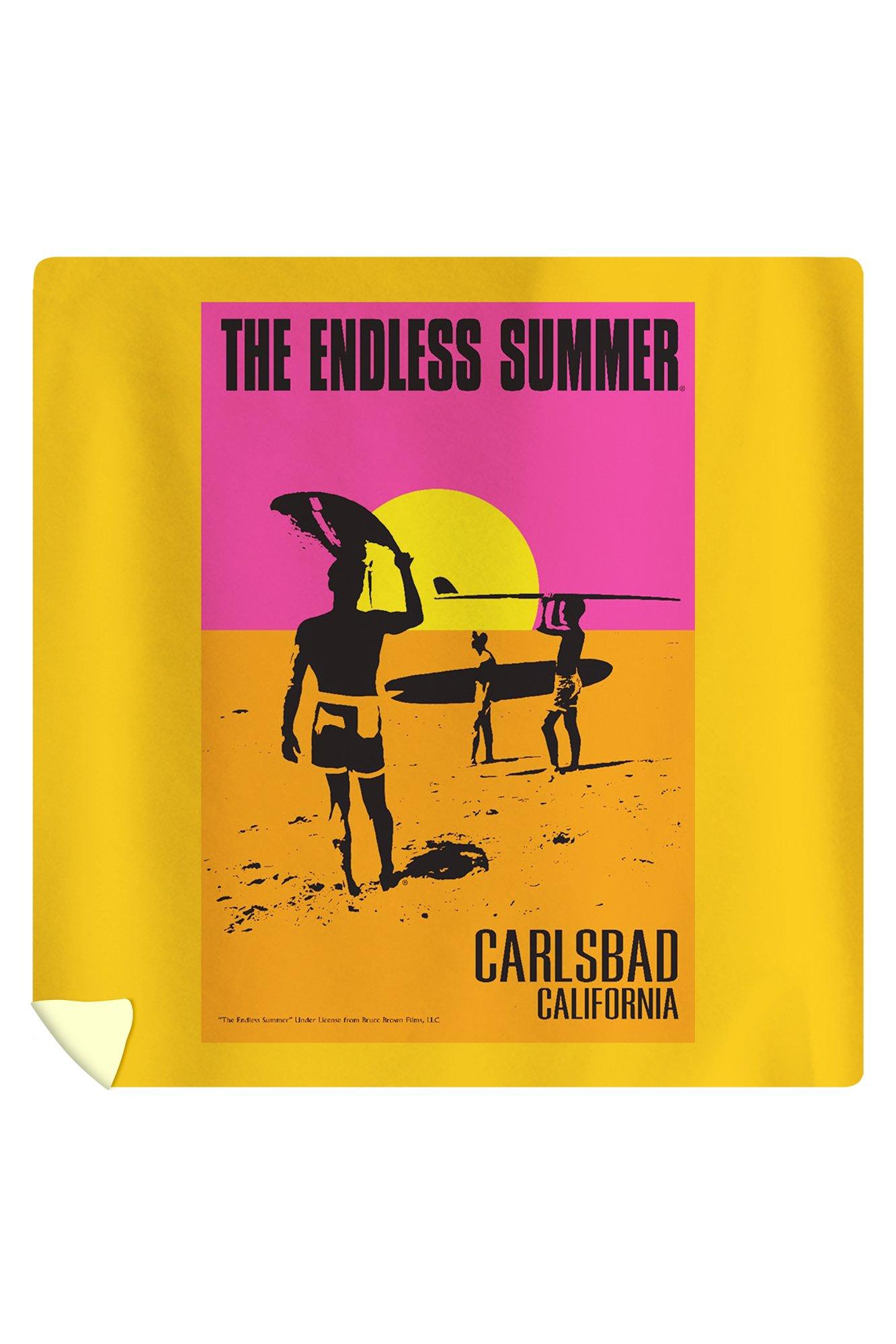 Carlsbad, California - The Endless Summer - Original Movie Poster (88x88 Queen Microfiber Duvet Cover)