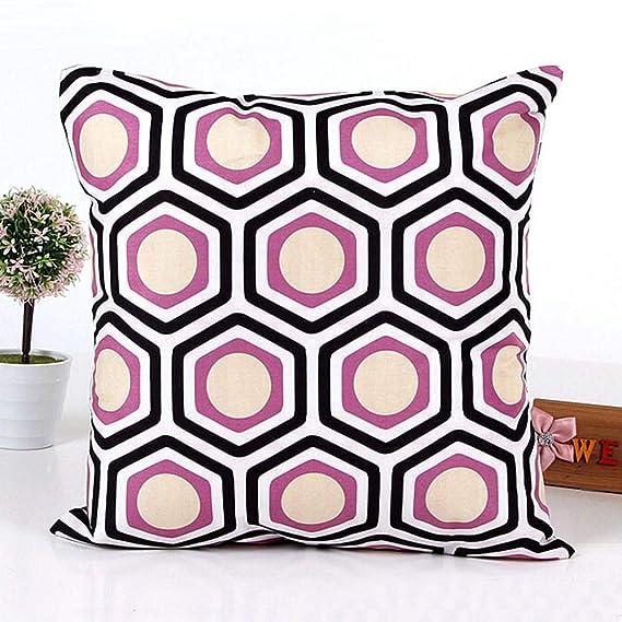 Fundas de cojín, TWBB Forma geométrica sofá Cama decoración para el hogar Funda de Almohada Funda de cojín (Púrpura): Amazon.es: Hogar