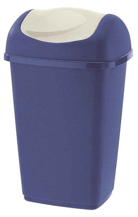 Testrut Schwingdeckeleimer In Blau – Mülleimer 50 L Für Küche