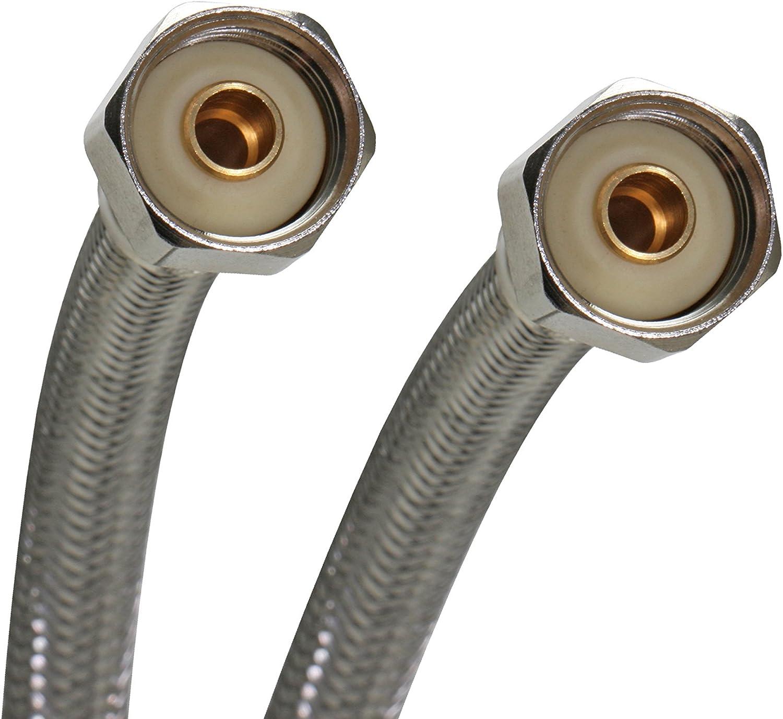 B000BQOBNK Fluidmaster B4F16 Faucet Connector, Braided Stainless Steel - 1/2-Inch F.I.P. Thread x 1/2-Inch F.I.P. Thread, 16-Inch Length 71THmw7y2BQL