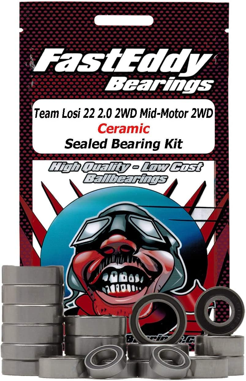 Team Losi 22 2.0 2WD Mid-Motor 2WD Ceramic Sealed Bearing Kit 71THnKifiYL
