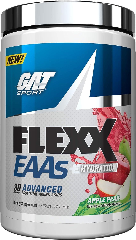 GAT Sport Flexx EAAs + Hydration, Essential Amino Acid Formula, Apple Pear, 30 Servings