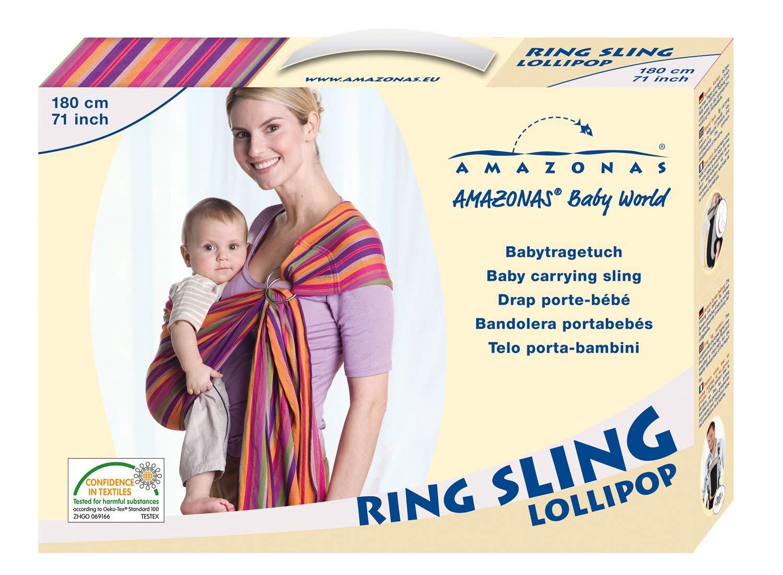 Amazonas Ring Sling Babytragetuch grau
