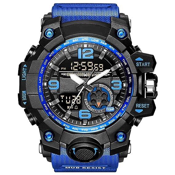 YZPNSSB Reloj electrónico Masculino Exterior Fuerzas Especiales táctico Militar Masculino Adulto multifunción Deportivo Impermeable Reloj al