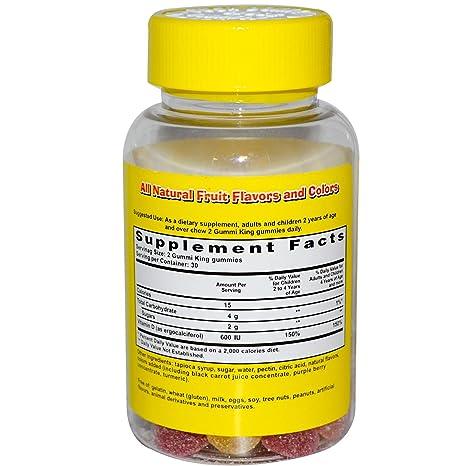Gummi King, Vitamina D, 60 Gomitas