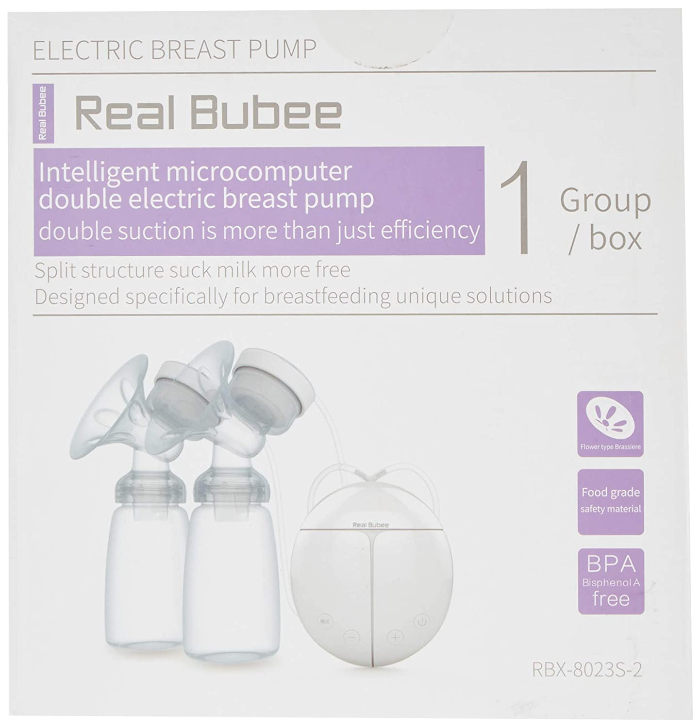 Amazon.com: Real Bubee Double/Single Electric Breast Pump-2 Mode Suction & Automatic Massage: Baby