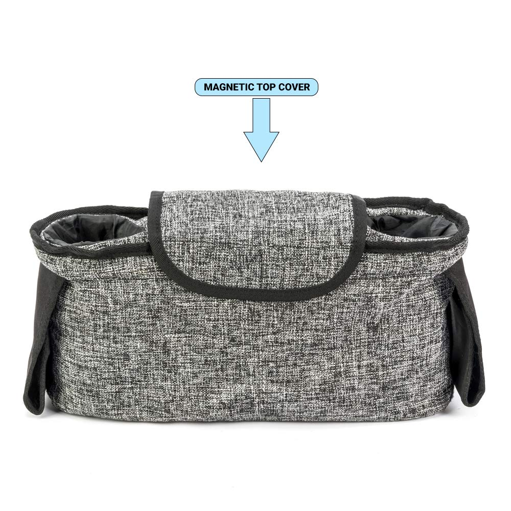 Agibaby Stroller Organizer, Insulated Deep Cup Holders, Instant Access Wipe Pocket, Universal Strap Fit, Large Storage Space by Agibaby (Image #3)