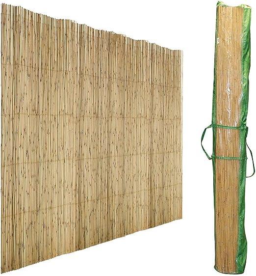 Sunny Days - Biombo, junco natural, sombreado, 1 x 5 m: Amazon.es: Jardín