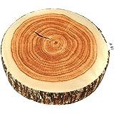 Hengsong Kreative Natur Holz Design-Log Weicher Stuhlkissen Kissen Geschenk Startseite Sofa (1#)