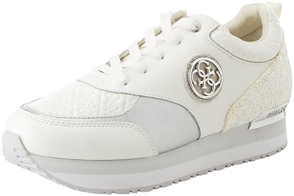 Guess Footwear Active Lady, Zapatillas para Mujer, Blanco (White White), 38 EU