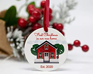 BANBERRY DESIGNS First Christmas in Our New Home - EST. 2020 Holiday House Design - New Homeowners Newlyweds Couples Neighbors Friends Family