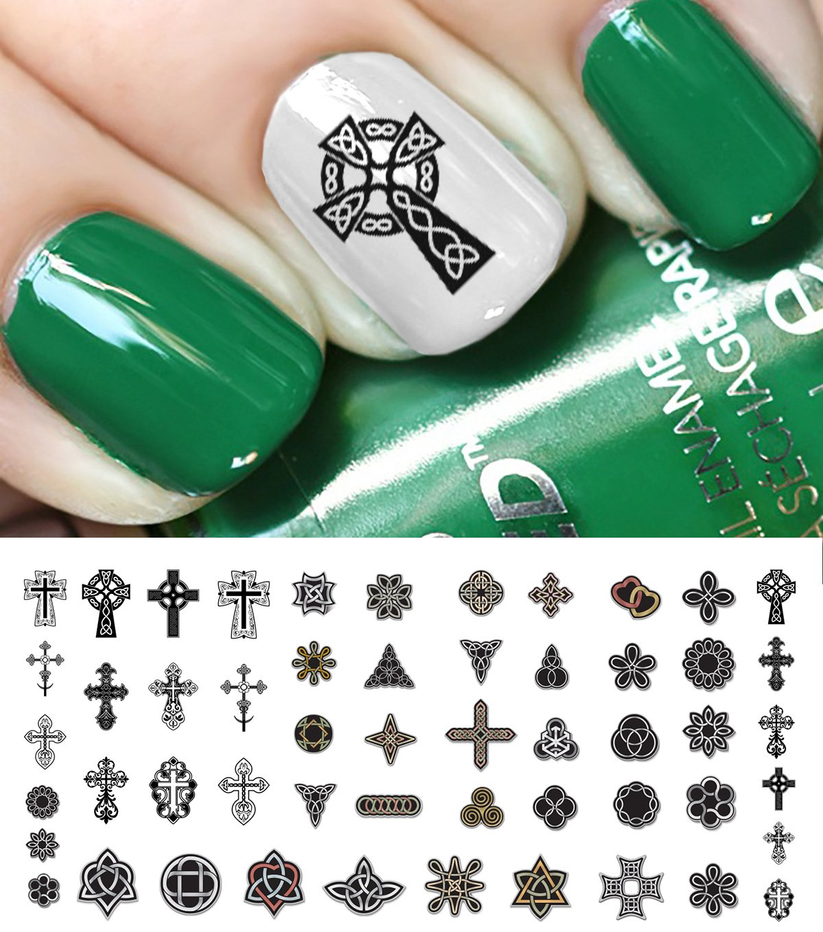 Amazon.com: Celtic Trinity Knot Waterslide Nail Decals - 50PC: Beauty