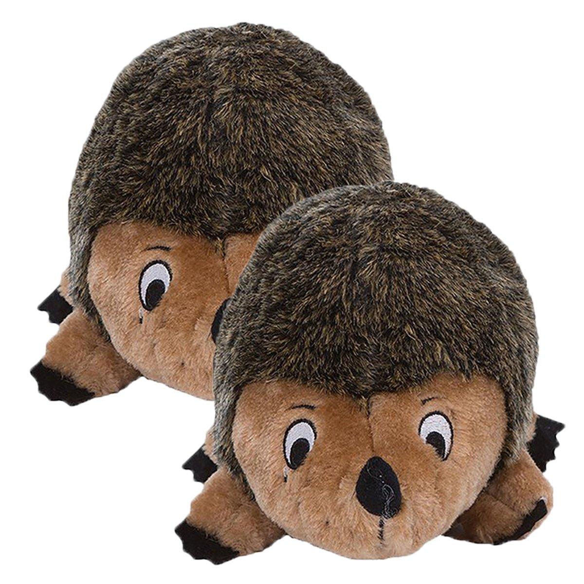 Hedgehogz, Squeak and Grunt Plush Dog Toy, Junior (2 Pack)