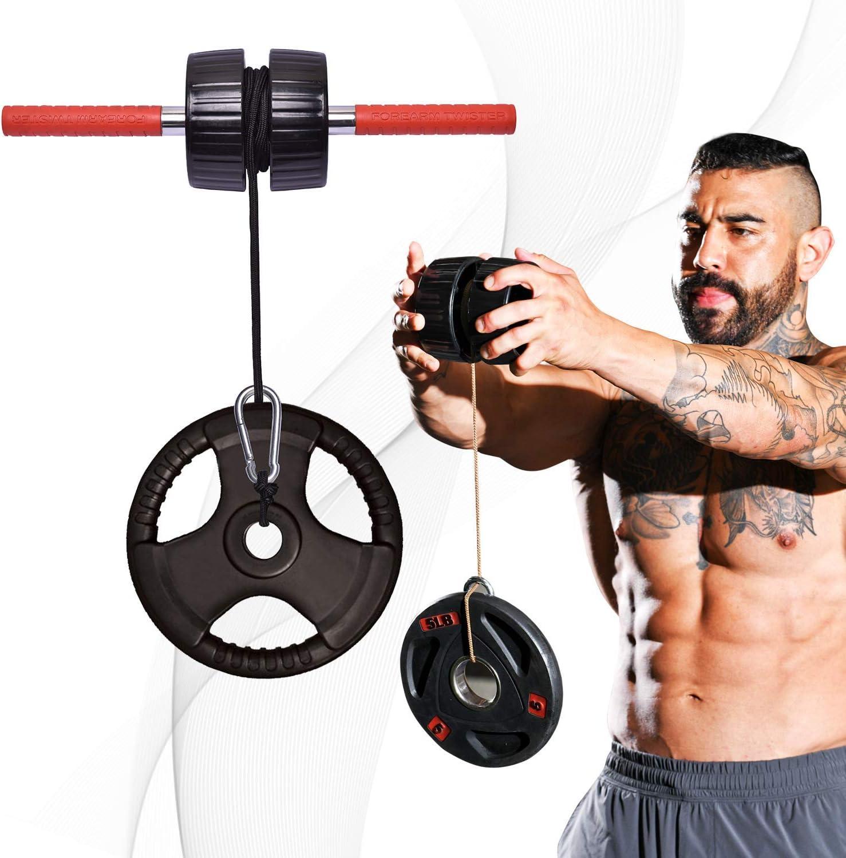 DMoose Fitness Wrist Exerciser, Strength Trainer, Forearm Blaster, Hand Grip Foam Roller Home Gym Equipment