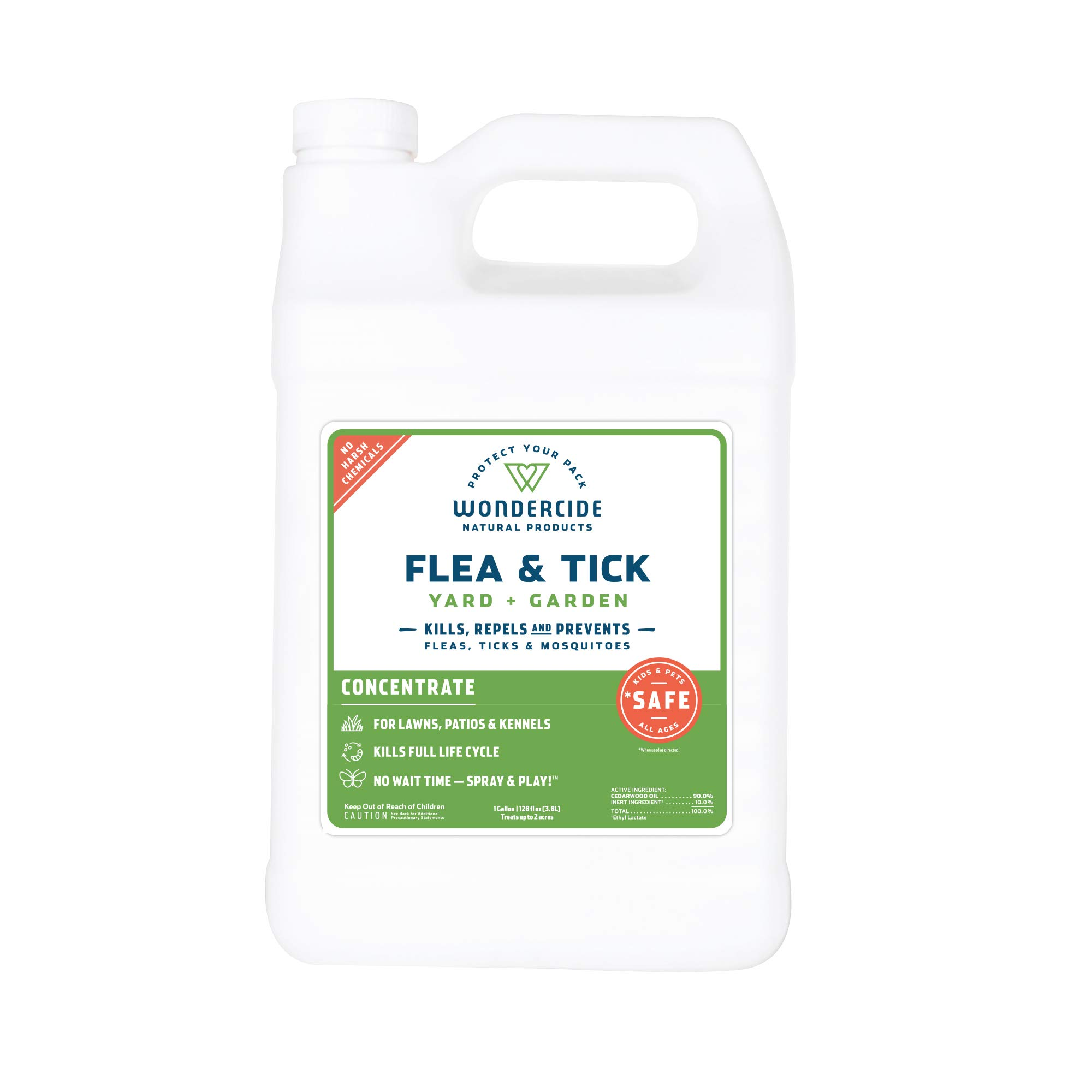 Wondercide Natural Flea and Tick Yard Garden Spray | Kill, Control, Prevent Fleas, Ticks, Mosquitoes & Insects - Natural Concentrate Safe Around Kids, Pets, Plants - 32 oz by Wondercide