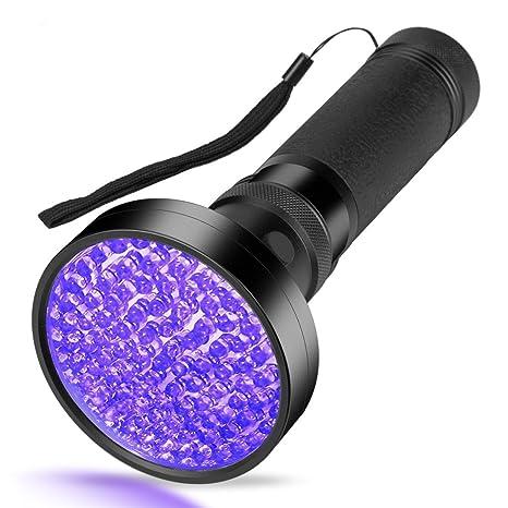 UV Luz Lámpara,SUAVER Ultravioleta 100LED linterna de luz negra UV Detector de manchas de orina de perro/gato eliminador de manchas, manchas secas Encuentra ...
