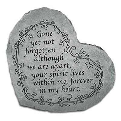 Small Heart Stepping Stone- Gone yet not forgotten : Outdoor Decorative Stones : Garden & Outdoor
